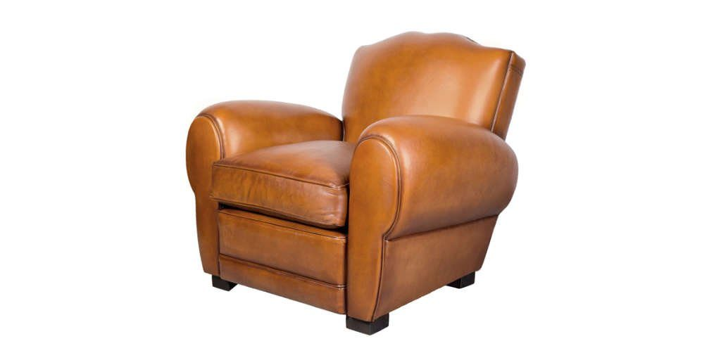Fauteuil Club Grand Moustache Havane