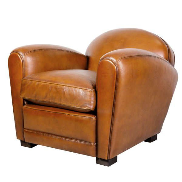 Grand fauteuil club corniche