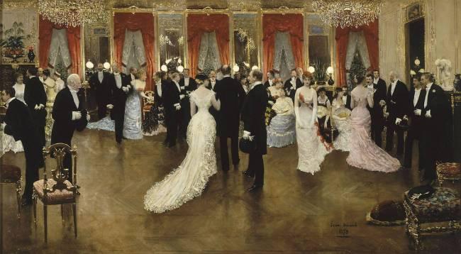 "Tableau ""la soirée"" de Jean Béraud"