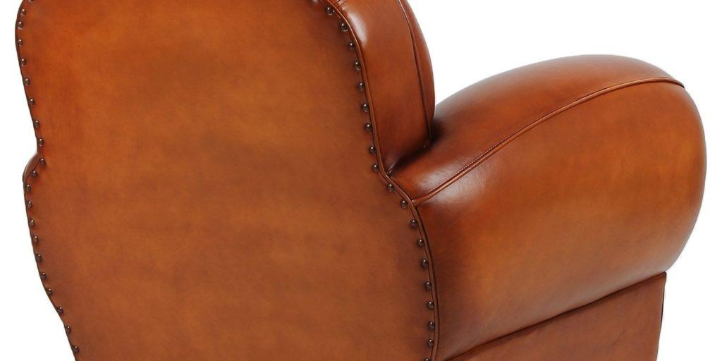 Auteuil, fauteuil, cuir rustique, dos