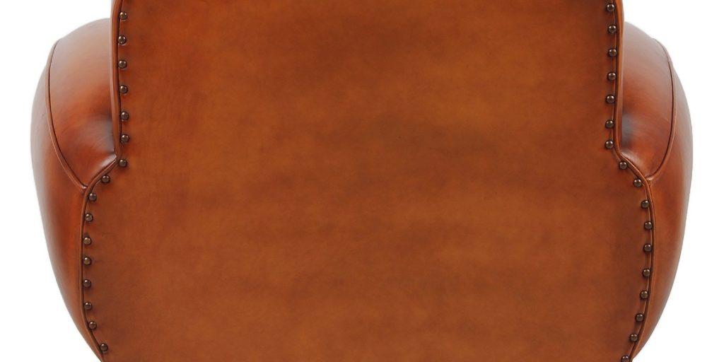 Auteuil, fauteuil, cuir rustique, arrière