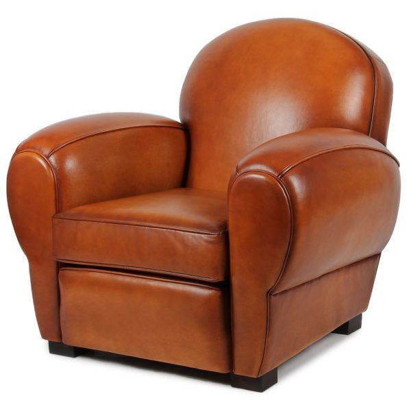 Auteuil, fauteuil, cuir rustique, face