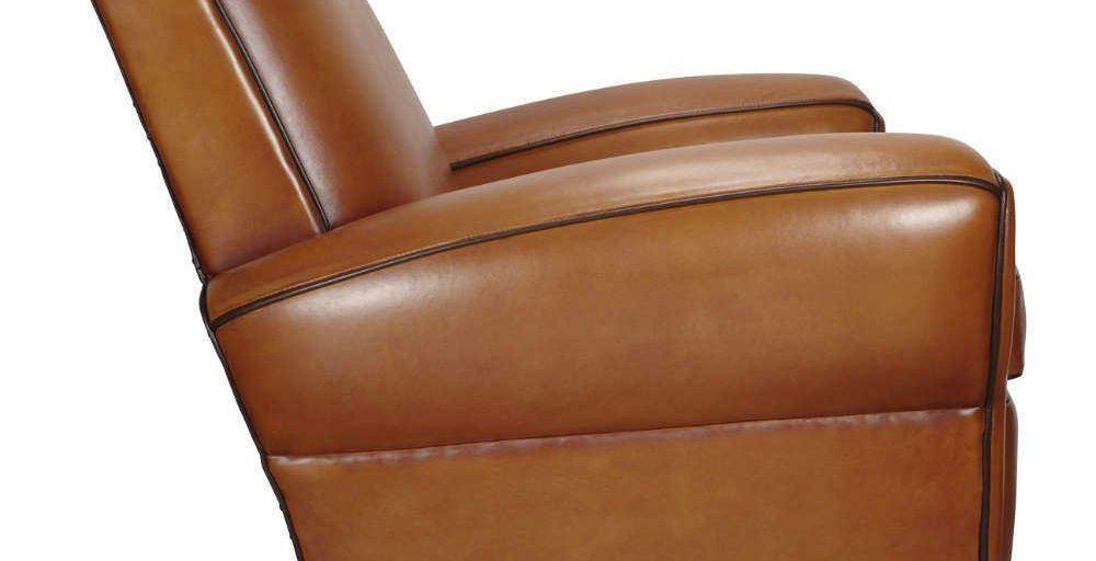 Bristol, fauteuil, cuir rustique, côté