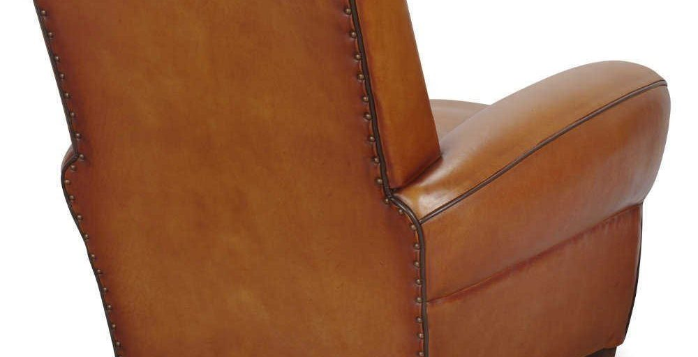 Bristol, fauteuil, cuir rustique, dos