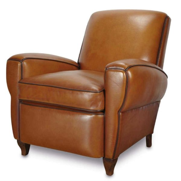 Bristol, fauteuil, cuir rustique, face