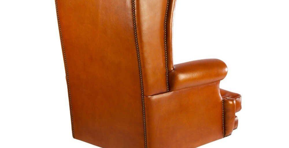 Buckingham, fauteuil, cuir havane, dos