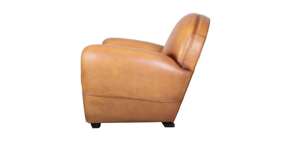 Cabaret, fauteuil, cuir gold, côté