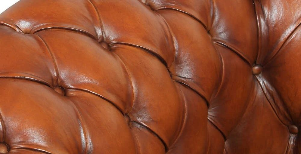 Churchill, canapé 3 places, cuir havane, arrière