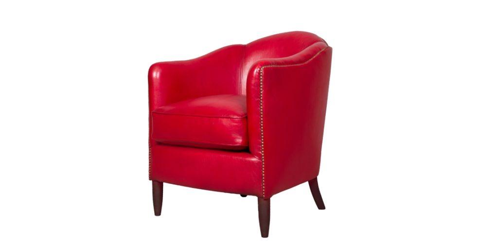 Coco 1929, fauteuil, cuir rustique, face
