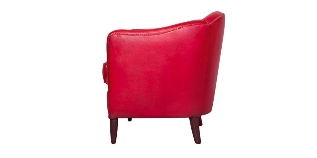 Coco 1929, fauteuil, cuir rustique, côté