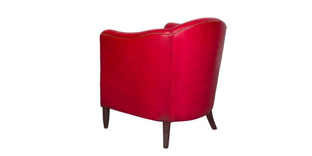 Coco 1929, fauteuil, cuir rustique, arrière
