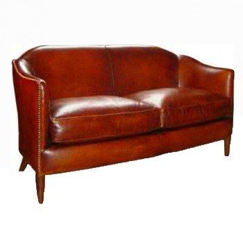 Coco 1929, canapé 2 places, cuir rustique, face