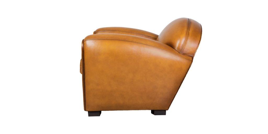 Corniche, fauteuil, cuir miel, côté