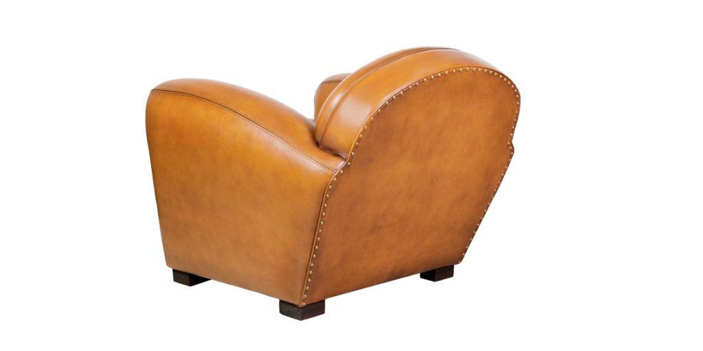 Corniche, fauteuil, cuir miel, arrière