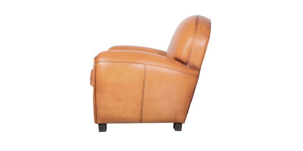 Coventry, fauteuil, cuir gold, côté