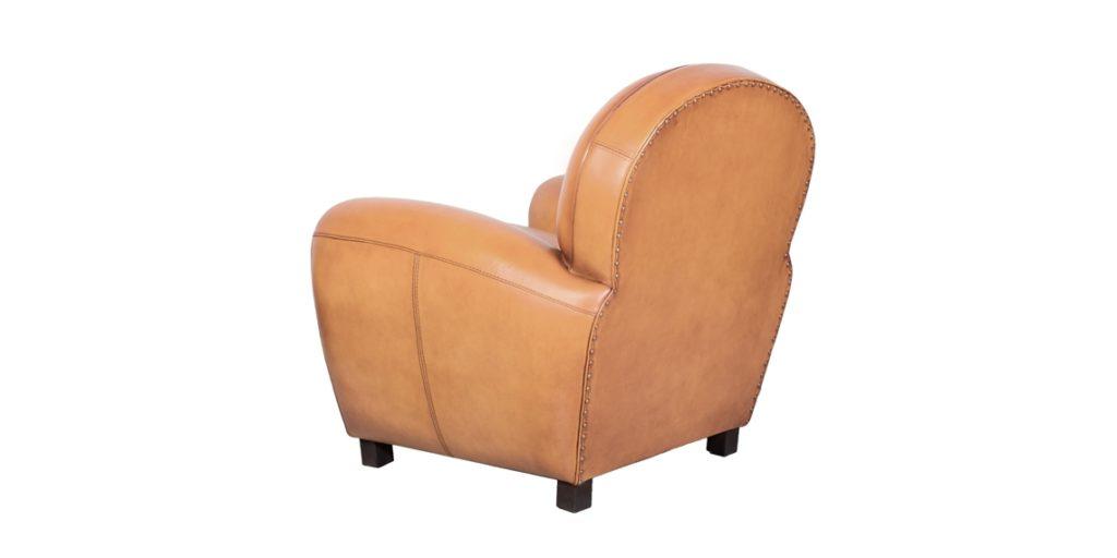 Coventry, fauteuil, cuir gold, arrière