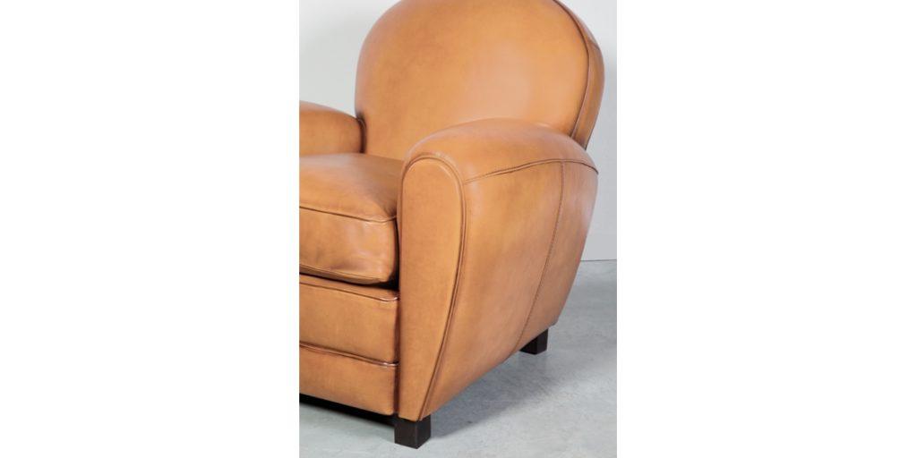 Coventry, fauteuil, cuir gold, accoudoir
