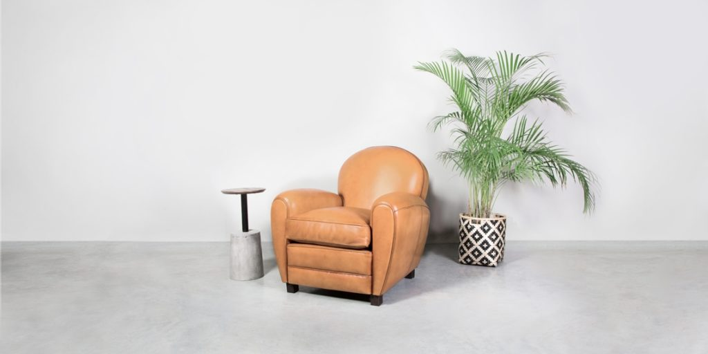 Coventry, fauteuil, cuir gold, déco