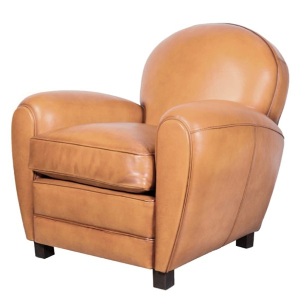 Coventry, fauteuil, cuir gold, face