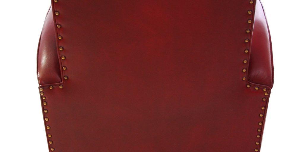 Deauville, fauteuil, cuir rouge, arrière