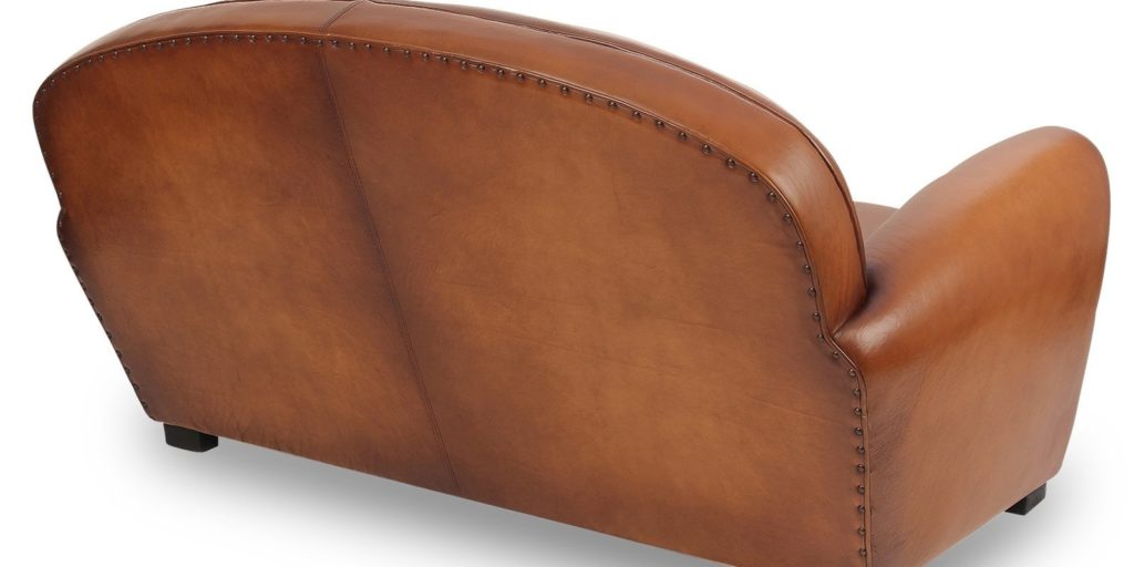Epicure, canapé convertible 2 places, cuir rustique, dos
