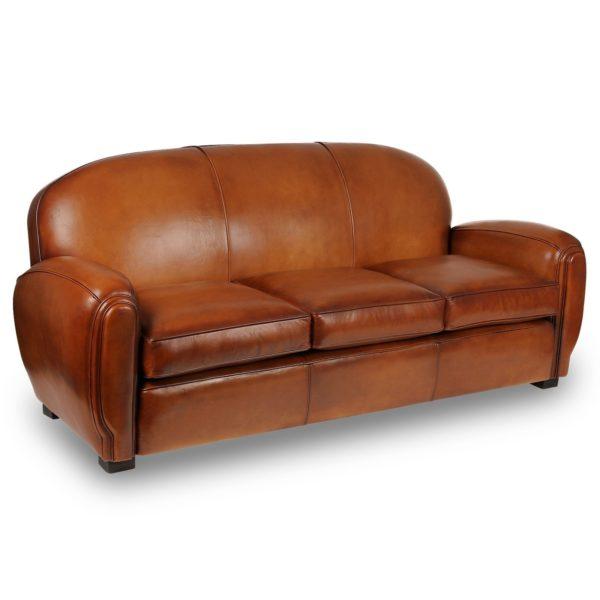 Gentleman, canapé 3 places, cuir rustique, face
