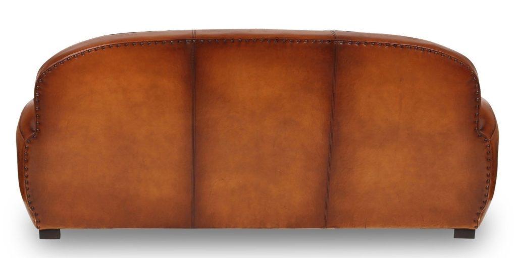 Gentleman, canapé 3 places, cuir rustique, dos