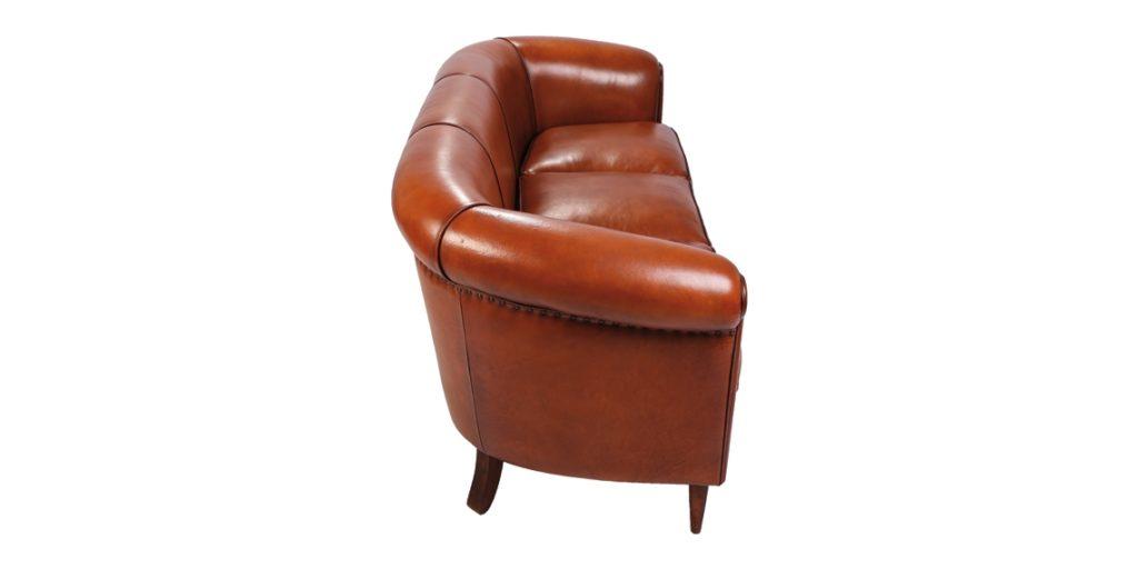 Harrys 1950, canapé 3 places, cuir rustique, côté
