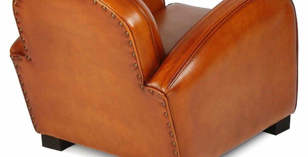 Hemingway enfant, fauteuil, cuir miel, dos