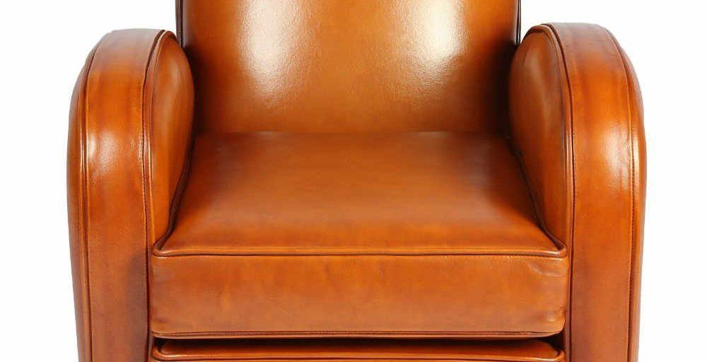 Hemingway enfant, fauteuil, cuir miel, face