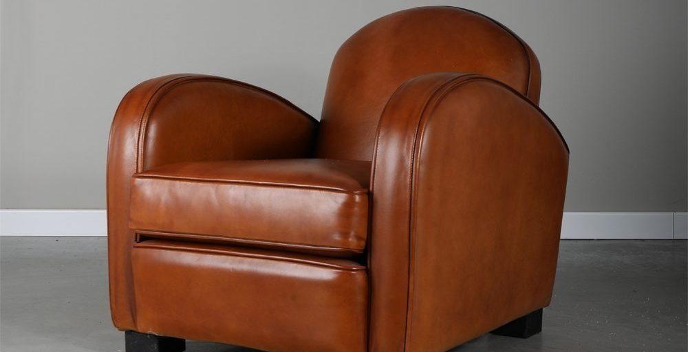 Hemingway enfant, fauteuil, cuir miel, ambiance