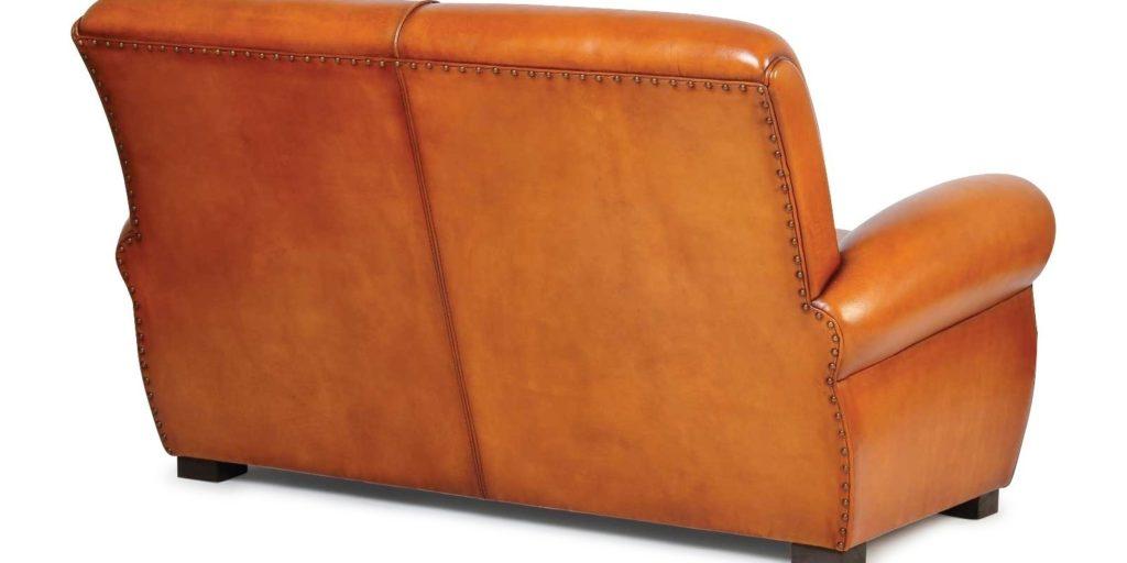 Lindbergh, canapé 2 places, cuir miel, arrière