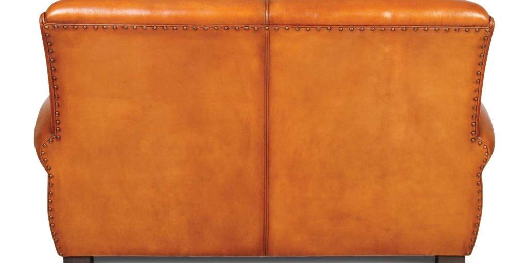 Lindbergh, canapé 2 places, cuir miel, dos