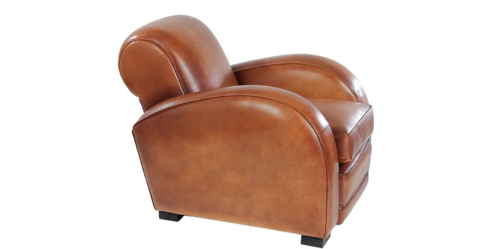 Texas, fauteuil, cuir miel, côté