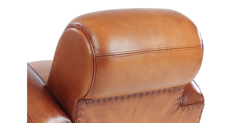 Texas, fauteuil, cuir miel, arrière