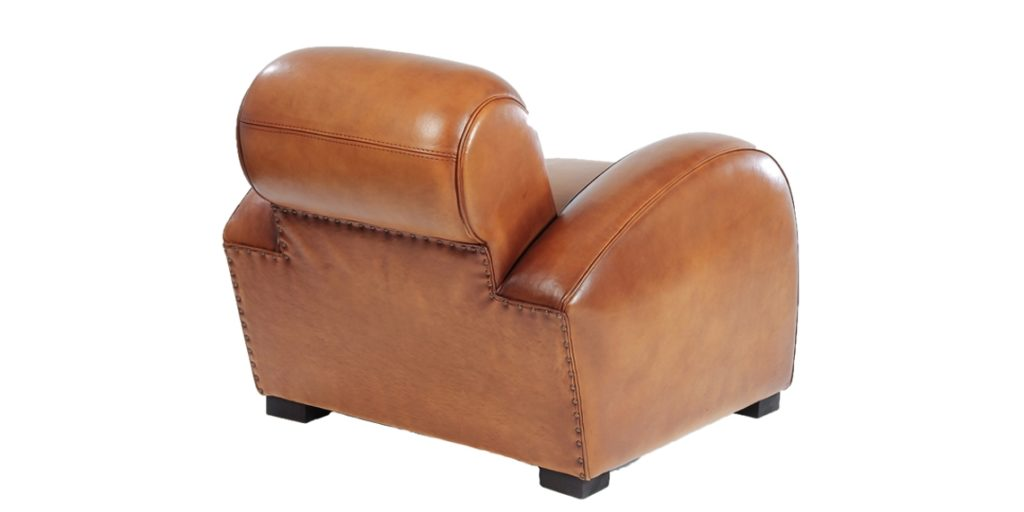 Texas, fauteuil, cuir miel, dos